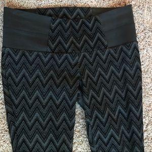 Pants - Tummy control high waist velvet black leggings